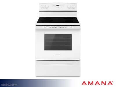 White Electric Range by Amana (4.8 Cu Ft)