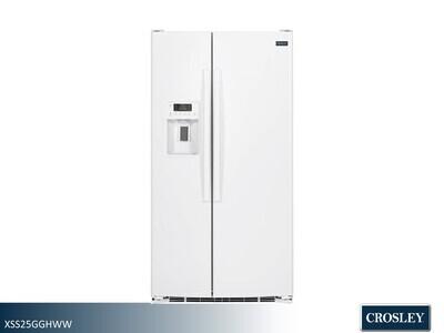 White Side by Side Refrigerator by Crosley (25.3 Cu Ft)