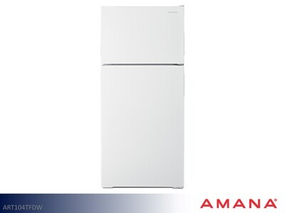 White 15 cu ft Refrigerator with Top Mount Freezer by Amana (14.23 Cu Ft)