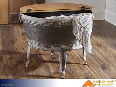 Shellmond Two Tone Chairside Table by Ashley