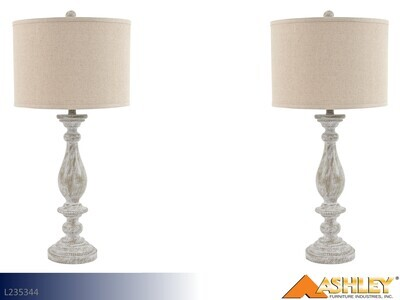 Bernadate Whitewash Lamps by Ashley (Pair)