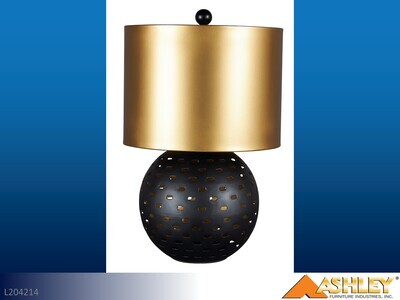 Mareike Black-Gold Lamps by Ashley