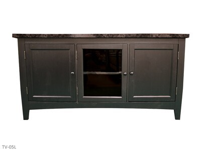 Faux Marble Black TV Stand by AWF Imports