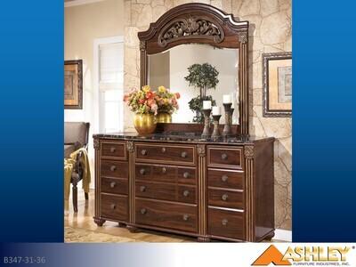 Gabriela Reddish Brown Dresser with Mirror by Ashley (2 Piece Set)