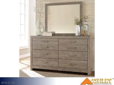 Culverbach Gray Dresser with Mirror by Ashley (2 Piece Set)