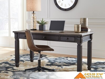Tyler Creek Black-Gray Home Office by Ashley (2 Piece Set)