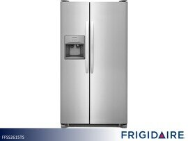 Stainless Side by Side Refrigerator by Frigidaire (25.5 Cu Ft)
