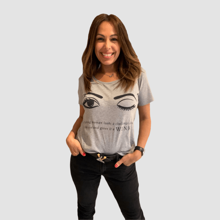 Grey Fitted LUX WMN T-Shirt