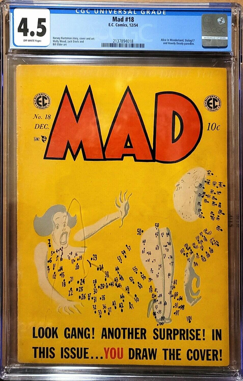 MAD #18 (1954) CGC 4.5 E.C. Comics Harvey Kurtzman Cover Art OFF WHITE PAGES