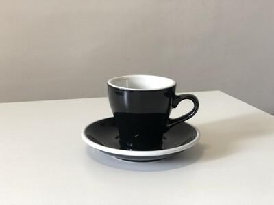 Acme Black Tulip Cup & Saucer