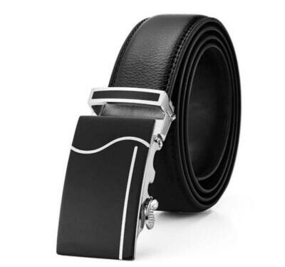 Quick Release Leather Belt-Black