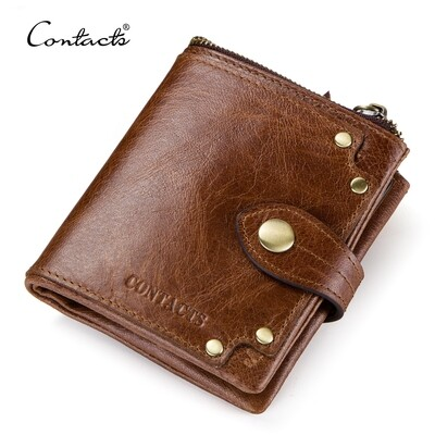Pure Leather Pocket Wallet - Brown