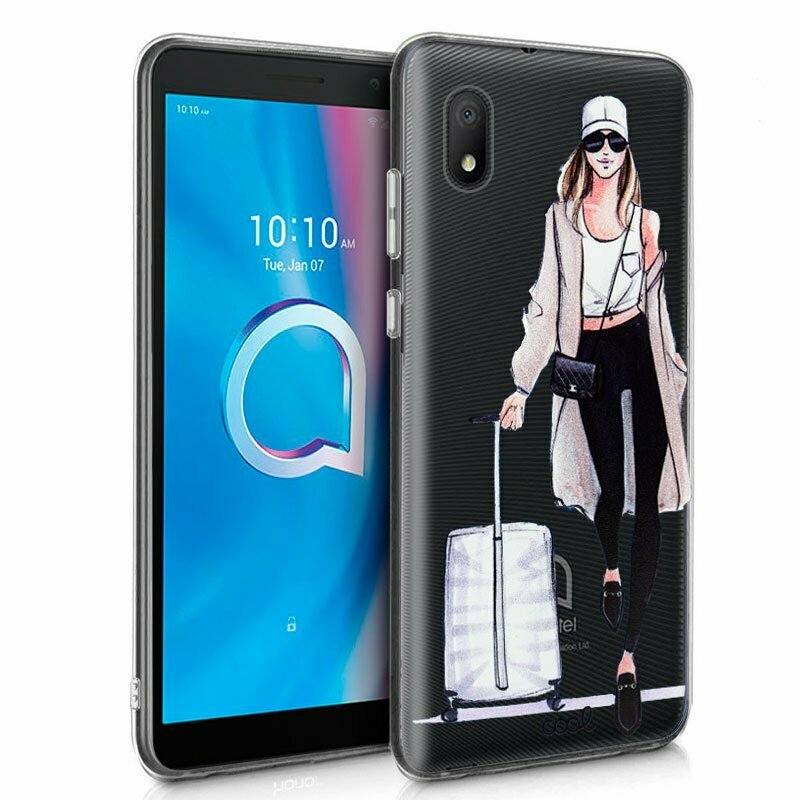 Carcasa Alcatel 1B (2020) Clear Girl
