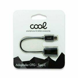 Cable Entrada USB OTG Tipo-C Universal COOL (Negro)