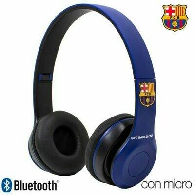 Auriculares Stereo Bluetooth Cascos Licencia Fútbol F.C. Barcelona