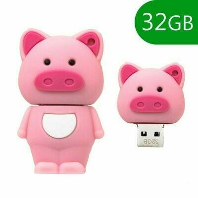 Pen Drive USB x32 GB Silicona Cerdito