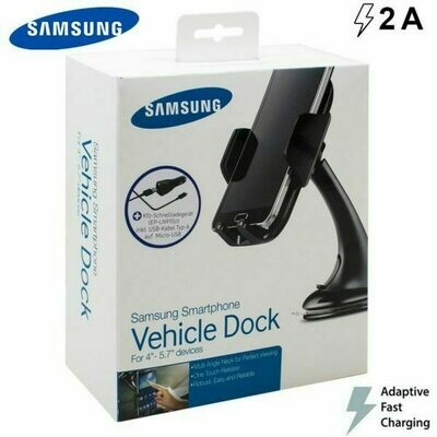 Soporte Pack + Cargador Coche Original Samsung 2Amp Carga Rápida (Tipo C) Con Blister
