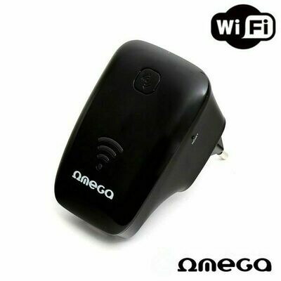 Repetidor Wifi 300 Mbps Omega Negro