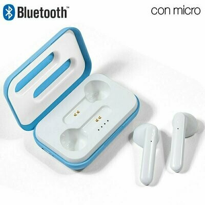 Auriculares Stereo Bluetooth Dual Pod COOL STYLE Celeste