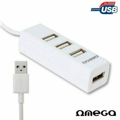 Hub 2.0 Omega 4 Puertos Blanco