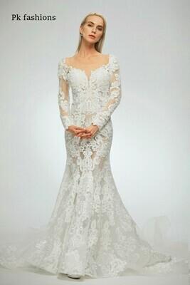 Pk Fashions lace wedding dress size 12