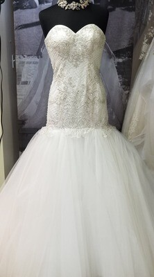 PK fashions mermaid wedding dress Style 15455 size 8