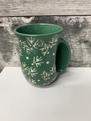 Joyful Winter Handwarmer Mug Teal