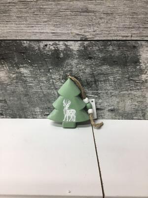 Green Ornament W/deer