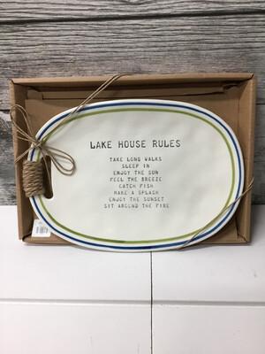 Lake House Rules Plate