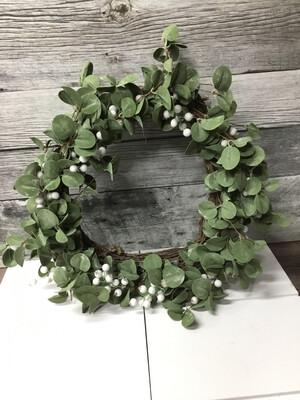 White Berry Wreath 20