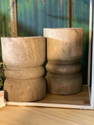 Large Grey Succulent Pillar