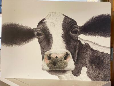 Rosa Cow Vinyl Placemat