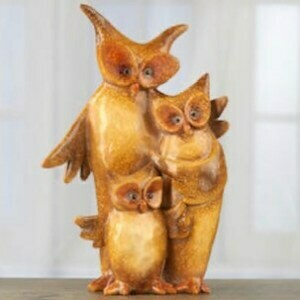 (343) Owl Family Statue