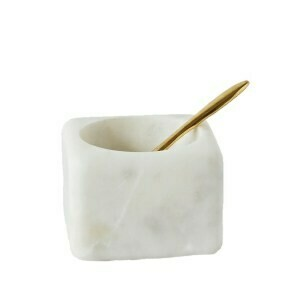 (169)Marble Salt Box with Spoon