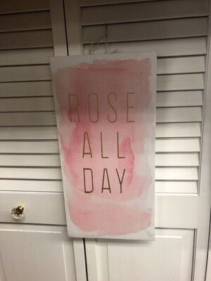 (225)	Rose' all day canvas