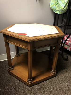 320 octagon end table