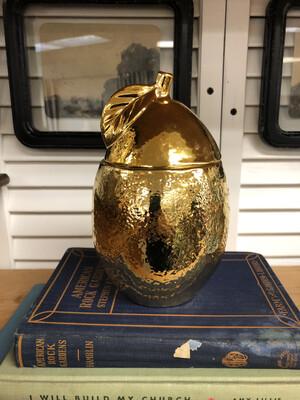 (227)gold lemon jar
