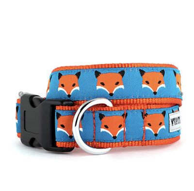 91 Fox Collar- Orange Dog Sz Sm