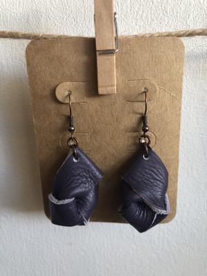#29 Purple Knot Earrings