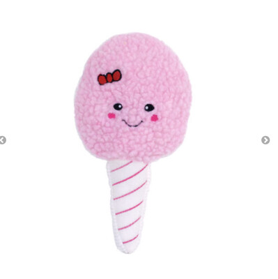 71 Squeakie Pattiez Cotton Candy- Dog Toy