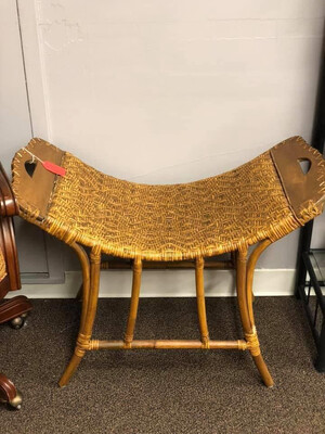 330 bamboo & wicker bench