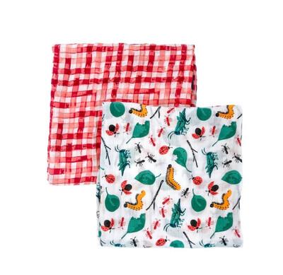 (249-1) Baby Blanket Set bugs