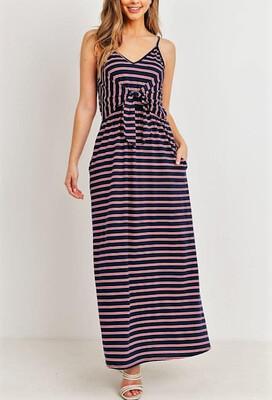 174 Navy w/stripes Maxi