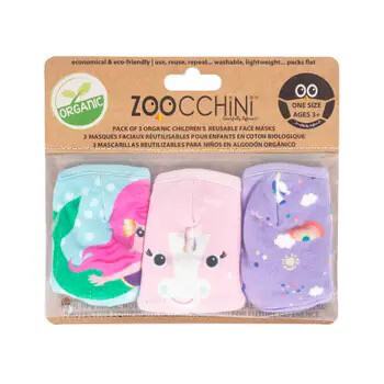 608 Zoocchini Organic Reusable Mask 3-pack