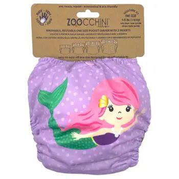 603 Zoocchini Cloth Diaper Mermaid