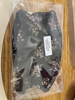 130 Black Floral Mask