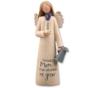 (623) MOM ANGEL W/VASE OF FLOWERS