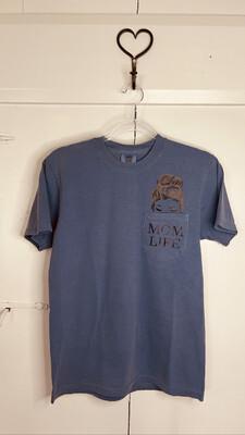 (170) X-Lg Blue Mom Life Pocket Tee