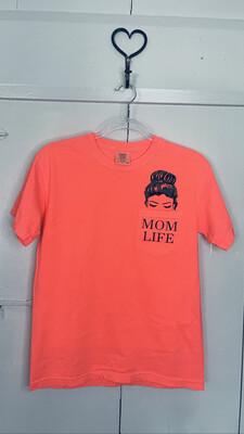 (164) Med Pink Citrus Mom Life Pocket Tee