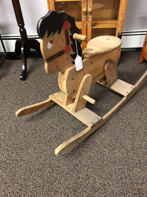 881 small vintage rocking horse